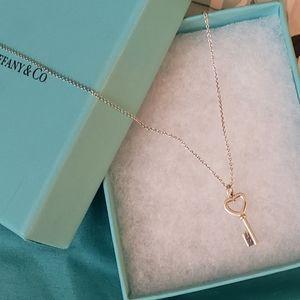 Tiffany & co mini key necklace